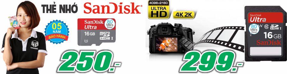 Thẻ Nhớ SanDisk 16G - Bảo Hành 5 Năm